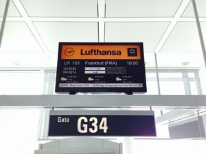 First hop on the way to Almaty: Munich - Frankfurt.