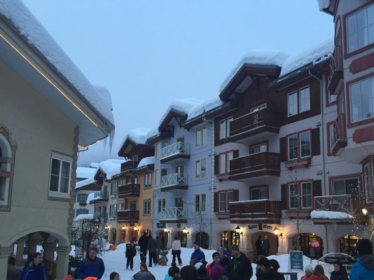 Sun Peaks tries hard to resemble a charming European mountain village.
