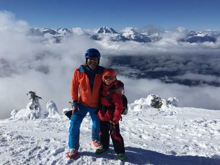 Father and Son on a glorious day at Subpeak