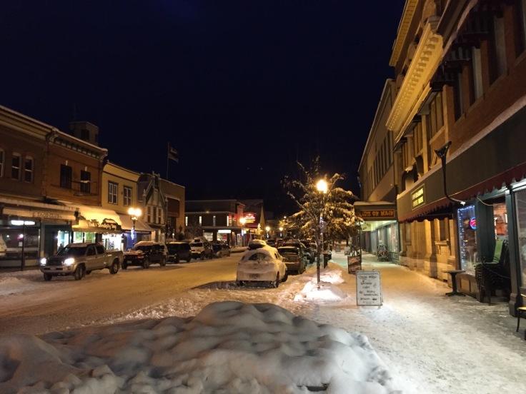 Winter in downtown Revelstoke