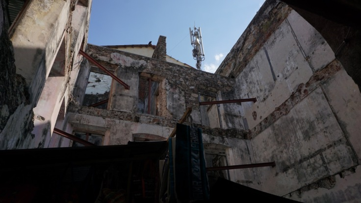 Mobile phone tower in Casco Viejo
