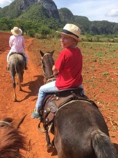 Max happy on horseback