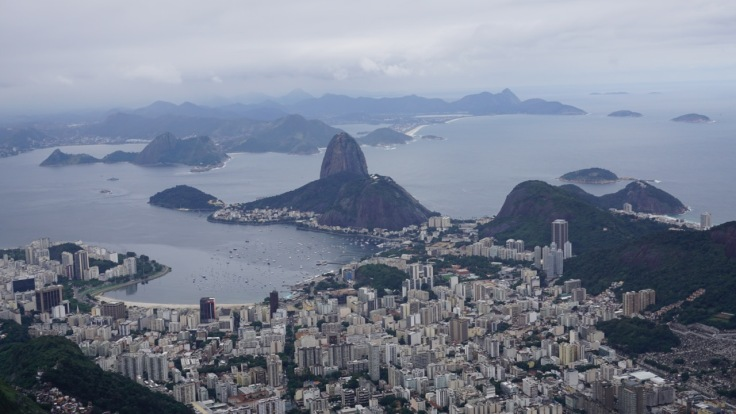 Sugarloaf Mountain seen from Corcovado