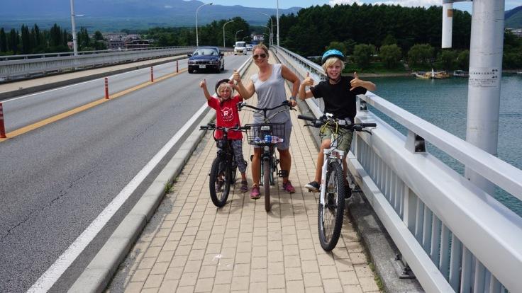Cycling in Kawaguchi