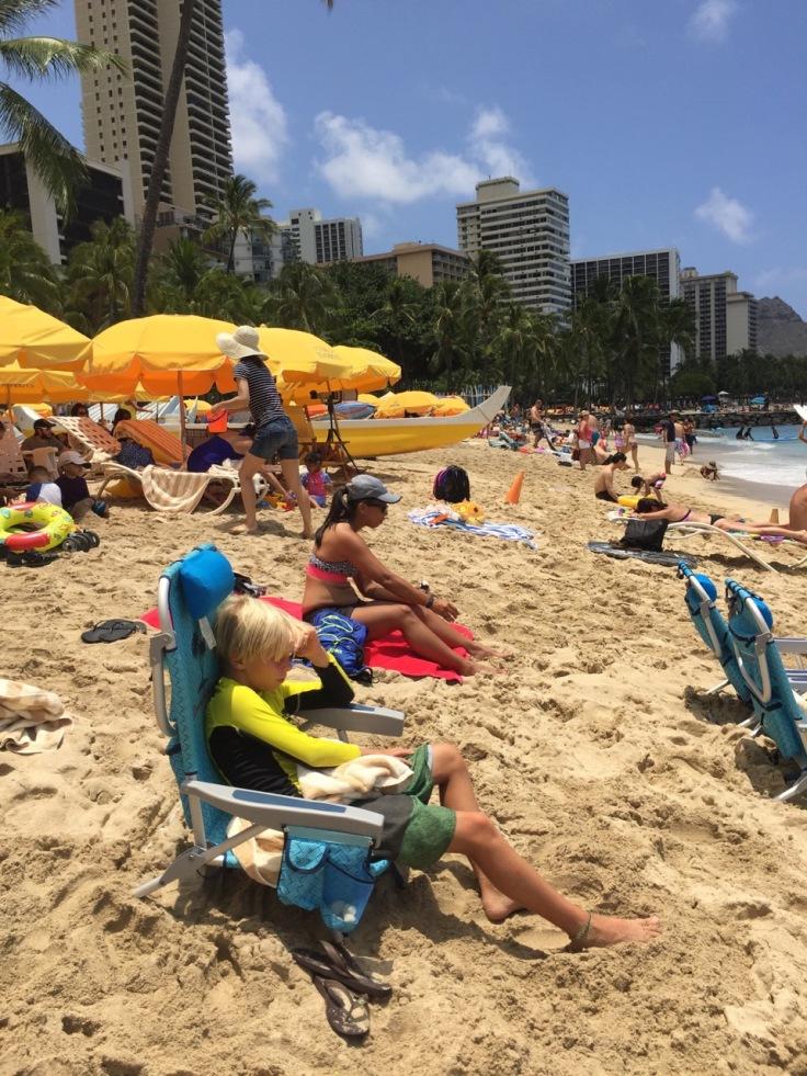 Max at Waikiki Beach